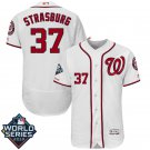 Men's 2019 World Series Nationals #37 Stephen Strasburg White Home Stitched Jersey