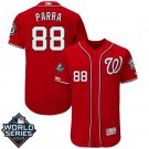 Men's 2019 World Series Nationals #88 Gerardo Parra Red Stitched Jersey