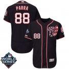 Men's 2019 World Series Nationals #88 Gerardo Parra Navy Blue Stitched Jersey