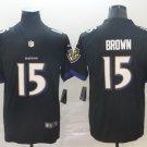 Ravens 15 Marquise Brown Black Vapor Untouchable Limited Men Jersey