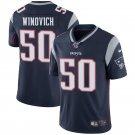 Patriots 50 Chase Winovich Navy Blue 100th Season Limited Men Jersey