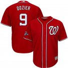 Men's 2019 World Series Champions Nationals #9 Brian Dozier Red Stitched Jersey