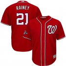 Men's 2019 World Series Champions Nationals #21 Tanner Rainey Red Stitched Jersey