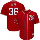 Men's 2019 World Series Champions Nationals #36 Tony Sipp Red Stitched Jersey