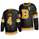 Boston Bruins #4 Bobby Orr Third Black Stitched Jersey