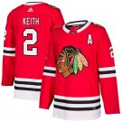 Chicago Blackhawks #2 Duncan Keith Red Home Stitched Jersey
