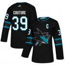 San Jose Sharks #39 Logan Couture Black Alternate Stitched Jersey