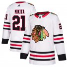 Chicago Blackhawks #21 Stan Mikita White Away Stitched Jersey