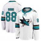 San Jose Sharks #88 Brent Burns White Away Stitched Jersey
