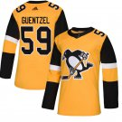 Pittsburgh Penguins #59 Jake Guentzel Gold Alternate Stitched Jersey