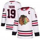 Chicago Blackhawks #19 Jonathan Toews White Away Stitched Jersey