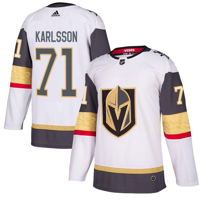 Vegas Golden Knights #71 William Karlsson White Away Stitched Jersey