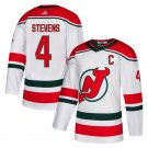 New Stitched Jersey Devils #4 Scott Stevens White Alternate Stitched Jersey