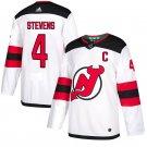 New Stitched Jersey Devils #4 Scott Stevens White Away Stitched Jersey