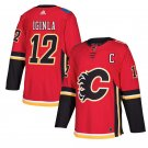 Calgary Flames #12 Jarome Iginla Red Home Stitched Jersey