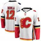 Calgary Flames #12 Jarome Iginla White away Stitched Jersey