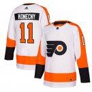 Philadelphia Flyers #11 Travis Konecny White Away Stitched Jersey