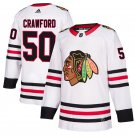Chicago Blackhawks #50 Corey Crawford White Away Stitched Jersey