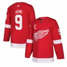 Detroit Red Wings #9 Gordie Howe Red Home Stitched Jersey