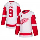 Detroit Red Wings #9 Gordie Howe White Away Stitched Jersey