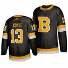 Boston Bruins #13 Charlie Coyle Third Black Stitched Jersey