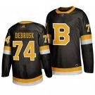Boston Bruins #74 Jake DeBrusk Third Black Stitched Jersey