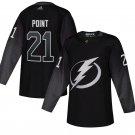Tampa Bay Lightning #21 Brayden Point Black Alternate Stitched Jersey