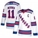 New York Rangers #11 Mark Messier White Away Stitched Jersey