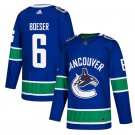 Vancouver Canucks #6 Brock Boeser Blue Home Stitched Jersey