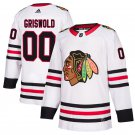 Chicago Blackhawks #00 Clark Griswold White Away Stitched Jersey
