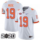 Clemson Tigers 2020 national championship #19 Tanner Muse White Jersey
