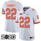 Clemson Tigers 2020 national championship #22 Will Swinney White Jersey