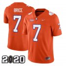 Clemson Tigers 2020 national championship #7 Chase Brice Orange Jersey