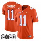 Clemson Tigers 2020 national championship #11 Isaiah Simmons Orange Jersey