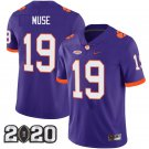 Clemson Tigers 2020 national championship #19 Tanner Muse Purple Jersey