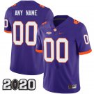 Clemson Tigers 2020 national championship #00 Custom Name And Number Purple Jersey