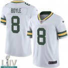 Green Bay Packers #8 Tim Boyle White Jersey With 2020 Super Bowl LIV Patch