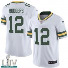 Green Bay Packers #12 Aaron Rodgers White Jersey With 2020 Super Bowl LIV Patch