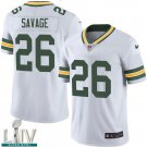 Green Bay Packers #26 Darnell Savage White Jersey With 2020 Super Bowl LIV Patch