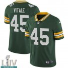 Green Bay Packers #45 Danny Vitale Green Jersey With 2020 Super Bowl LIV Patch
