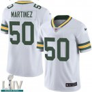 Green Bay Packers #50 Blake Martinez White Jersey With 2020 Super Bowl LIV Patch