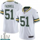 Green Bay Packers #51 Kyler Fackrell White Jersey With 2020 Super Bowl LIV Patch