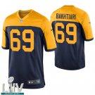 Green Bay Packers #69 David Bakhtiari Navy Golden Jersey With 2020 Super Bowl LIV Patch