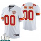 Kansas City Chiefs #00 Custom Name And Number White Jersey With 2020 Super Bowl LIV Patch