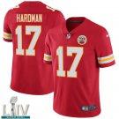 Kansas City Chiefs #17 Mecole Hardman Red Jersey With 2020 Super Bowl LIV Patch