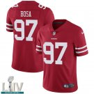 San Francisco 49ers #97 Nick Bosa Red Jersey With 2020 Super Bowl LIV Patch