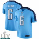 Tennessee Titans #6 Brett Kern Blue Jersey With 2020 Super Bowl LIV Patch