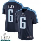Tennessee Titans #6 Brett Kern Navy Jersey With 2020 Super Bowl LIV Patch