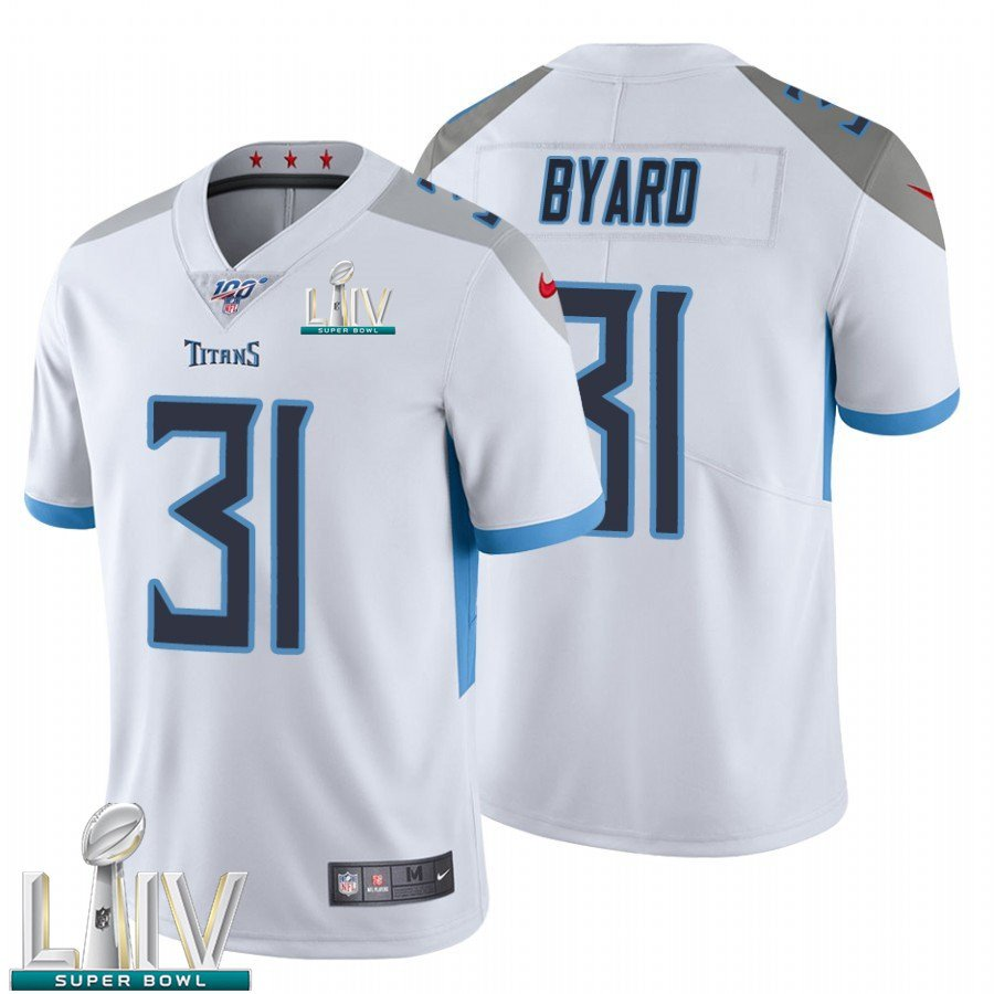 Tennessee Titans #31 Kevin Byard White Jersey With 2020 Super Bowl LIV Patch