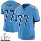 Tennessee Titans #77 Taylor Lewan Blue Jersey With 2020 Super Bowl LIV Patch